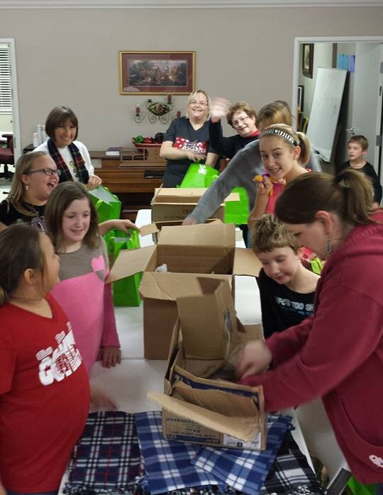 We are getting Christmas presents ready for the homeless ministry. Merry Christmas everyone!